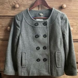 J. Crew Wool + Cashmere Cropped Peacoat